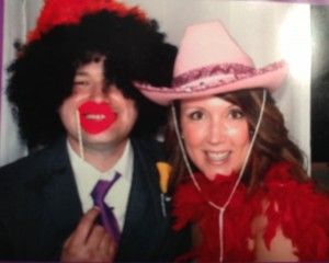 Gettin' crazy in the photo booth with the Hubs.  I think I need to get a cowboy hat for reals...