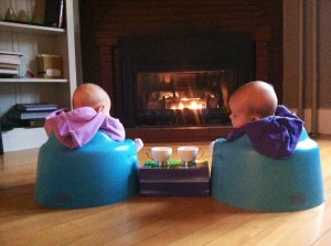 Also, having twins lets you set up ridiculous photos like this one.